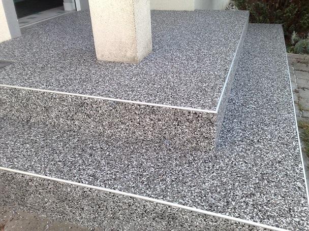Natursteinteppich steinteppich naturstein industrieboden for Boden epoxidharz